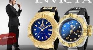 Relógio Invicta dourado e preto